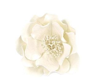 Wedding White Open Rose Sugar Flower for a unique cake topper, wedding cake decoration, gumpaste flower arrangement