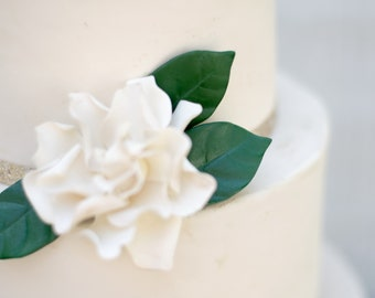 3 Gardenia Leaves for Gumpaste and Sugar Flower Cake Toppers