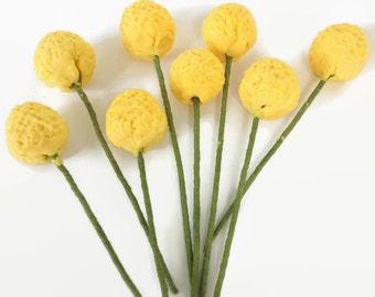 Gumpaste Billy Balls Craspedia set of 24 for sugar flower arrangements and wedding cake toppers