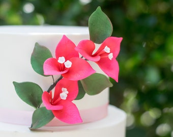 Pink Bougainvillea Sugar Flowers, wedding cake topper, tropical wedding, birthday cake decor, gumpaste