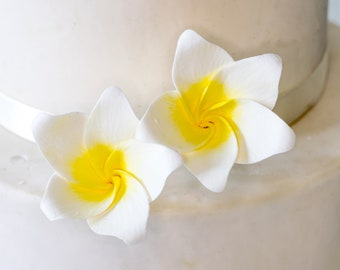 Tropical Plumeria Sugar Flowers