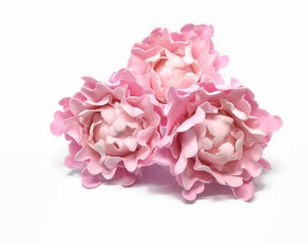 Ombre Pink Peony Bud Sugar Flower set of 3, Gumpaste Cake Topper for Weddings, Baby Showers, Birthdays, Baby Showers, Engagement Cakes