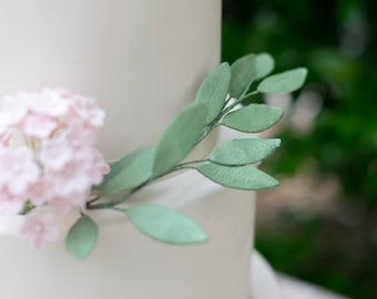 Italian Ruscus Light Green Leaves for Sugar Flower Arrangements and Wedding Cake Toppers