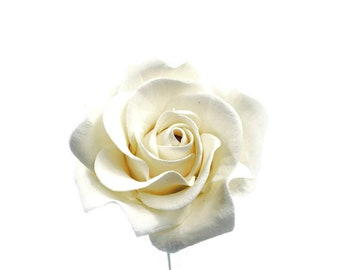 Small White Rose 2.5""