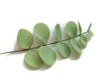 Eucalyptus leaf Spray light green foliage for wedding cake toppers, gumpaste cake decorations, diy brides, bridal showers, wedding greenery