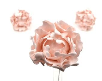 Blush Pink Peony Bud Sugar Flower set of 3, Gumpaste Cake Topper for Weddings, Baby Showers, Birthdays, Baby Showers, Engagement Cakes