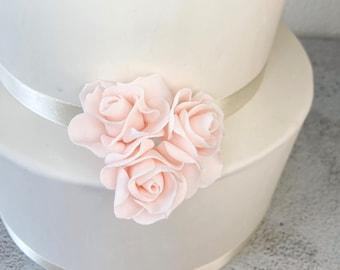 Spray Roses - set of 3 Blush Pink Sugar Flower Spray Roses