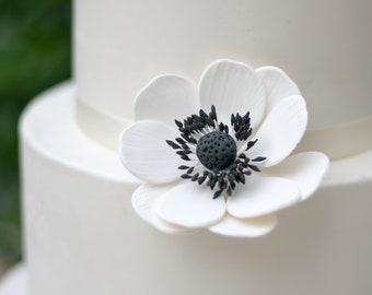 Anemone Sugar Flowers for wedding cake toppers, gumpaste decorators, DIY weddings