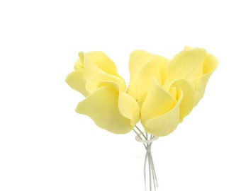 Yellow Rose Buds for sugar flower arrangements, gumpaste flower wedding cake toppers, fondant cake decorations, filler flowers