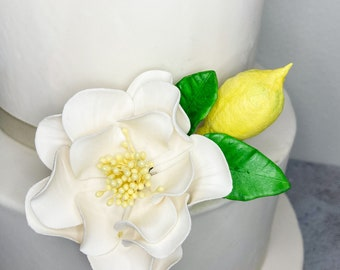Lemon Gumpaste Cake Topper - perfect for sugar flower arrangements
