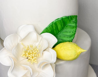 Lemon Leaves - perfect for adorning cakes with sugar flowers