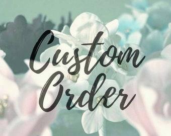 Custom Order: purple roses