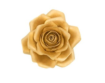 Metallic Gold Rose