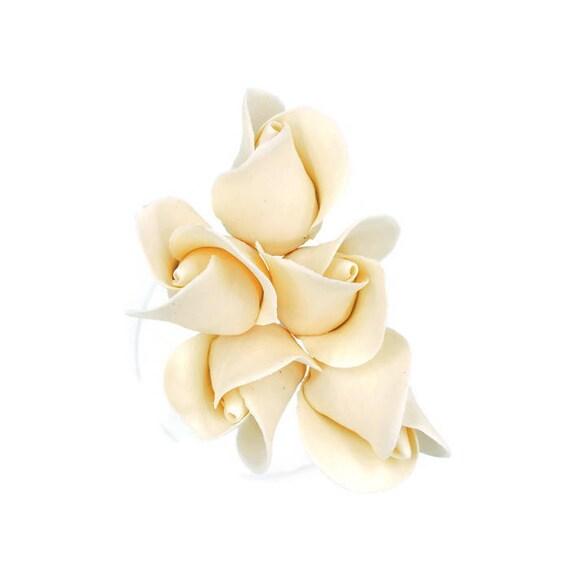 Ivory Color Rose Buds set of 5 for sugar flower arrangements   Etsy