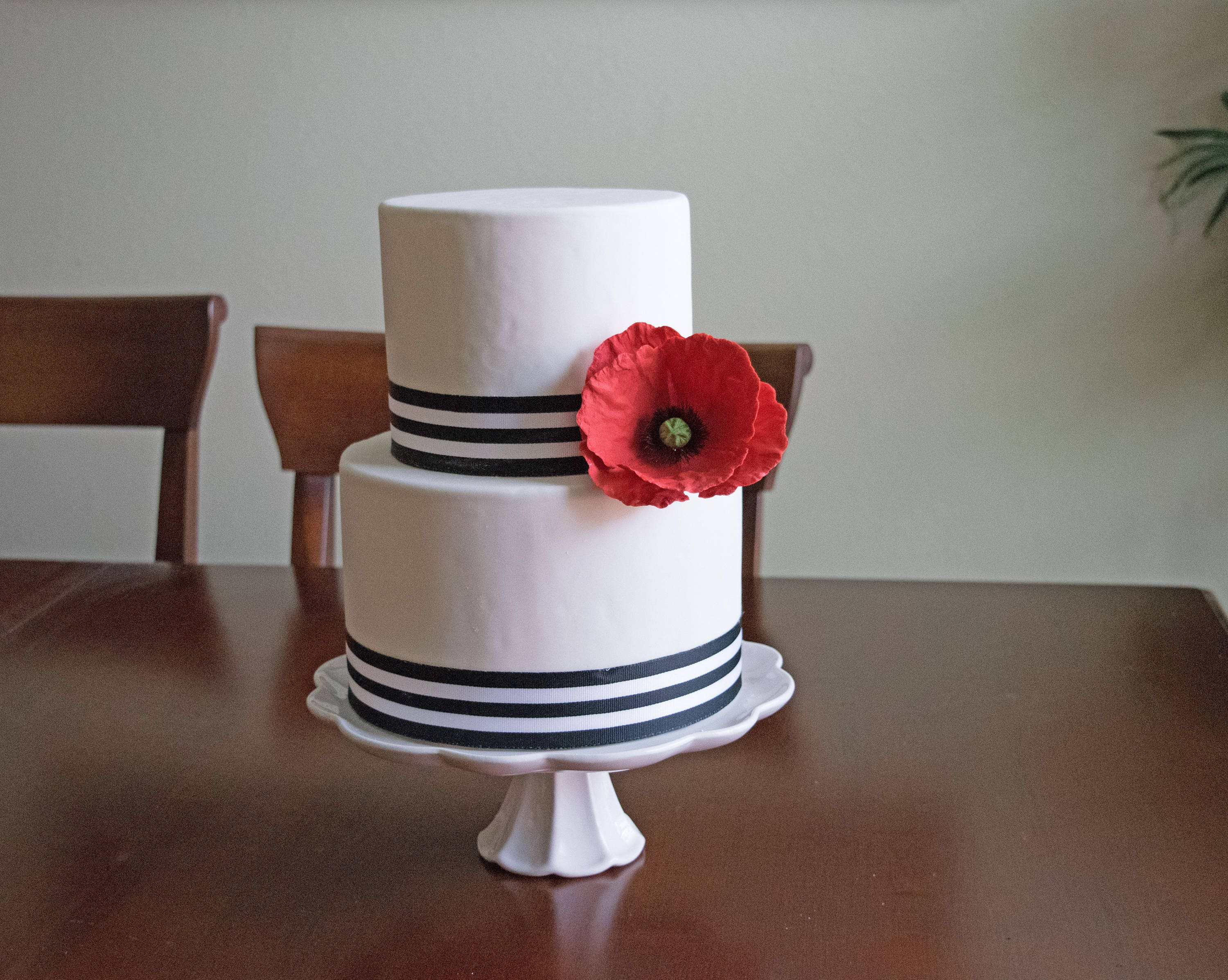 Red Poppy Sugar Flower For Wedding Cake Toppers Cake Decorations