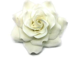 "White Rose Sugar Flower READY TO SHIP 3.5"" Gumpaste Rose"