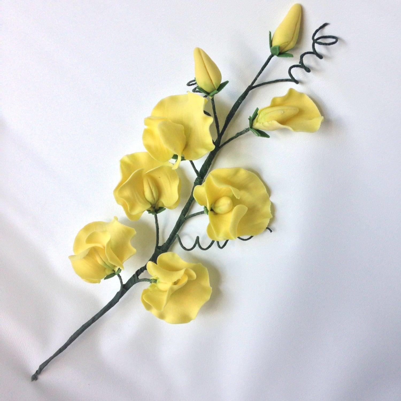 Sweet Pea Sugar Flowers for wedding cake toppers, gumpaste flowers ...