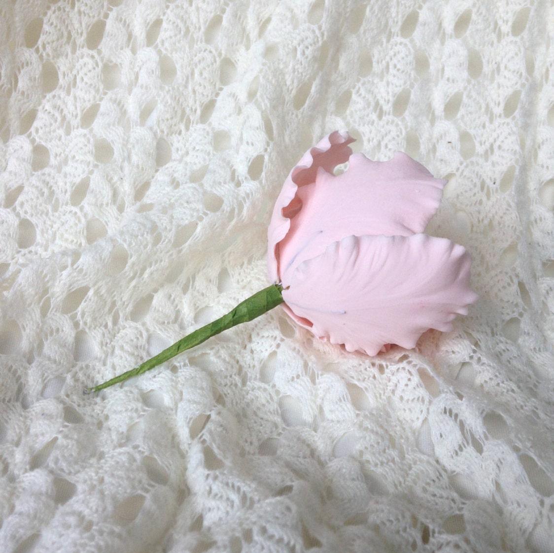 Parrot tulip blush pink sugar flower for wedding cakes gumpaste gallery photo gallery photo gallery photo mightylinksfo