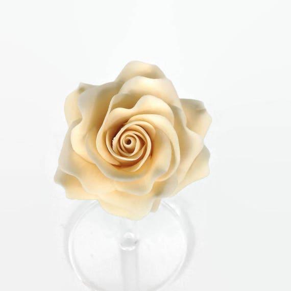 Cream Rose Sugar Flower Ivory Gumpaste Rose for Modern | Etsy