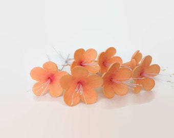 Small Tropical Blossom Sugar Flowers for wedding cake toppers, gumpaste flowers, custom cake decorations