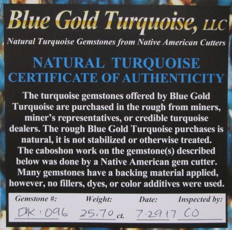 25.70 ct 100/% Natural Royston Ribbon Turquoise Cabochon Gemstone # DK 096