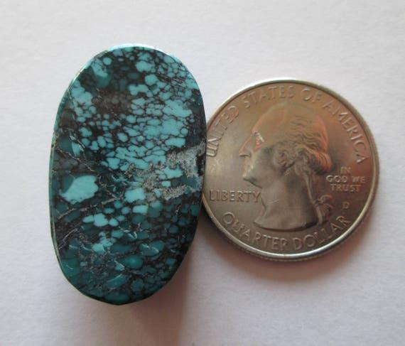 29.80 ct # 1BR 038 100/% Natural Qingu Mine Hubei Turquoise Cabochon Gemstone