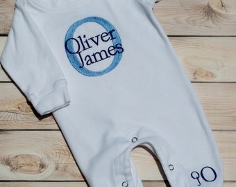Baby Boy Coming Home Outfit Monogrammed Baby Boy Gift Personalized Baby Boy Take Home Outfit