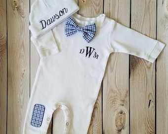 2a841fa00425 Baby boy coming home outfit