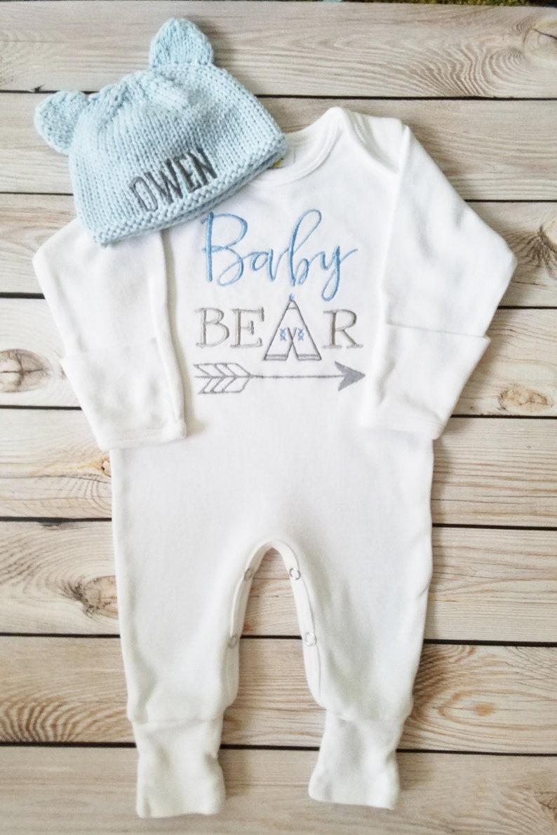 b5b480f66 Baby Boy Footed Sleeper Baby Boy Take Home Outfit Newborn Baby