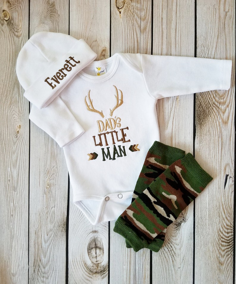 266d9b466 Baby Boy Coming Home Outfit Personalized Baby Boy Camo   Etsy