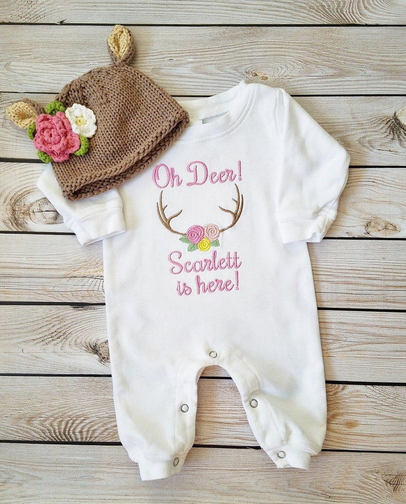 8749e85cfa384 Baby Girl Coming Home Outfit Newborn Baby Girl Personalized | Etsy