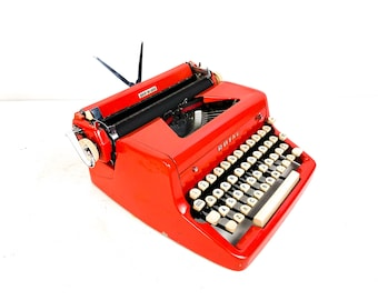 RESERVED FOR POPI 1956 Fully Restored Candy Red Royal Quiet De Luxe Typewriter