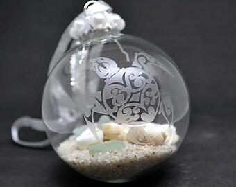 Coastal Christmas, Beach Ornament, Sea Turtle Gifts, Beach Christmas Ornament, Beach Lovers Gift, Nautical Ornament, Sea Turtle Ornament