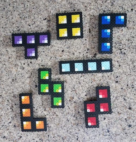 Tetris Fuse Bead Patterns Perler Beads Etsy Beauteous Fuse Beads Patterns