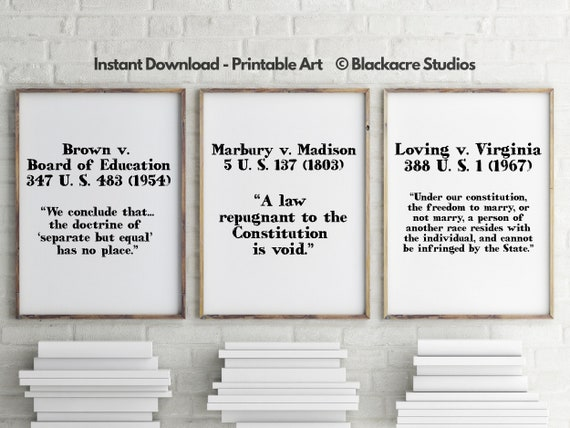 Court House Poster Set Attorney Gifts Paralegal Judge Gift Lawyers Office