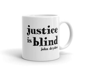 Coffee Mug - Justice is Blind - Law School Graduation Gift - Attorney Gifts - Lawyer Gifts - Law Firm Gifts