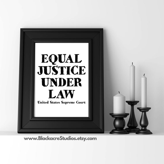 Equal Justice Under Law Law Office Decor Lawyer Gifts | Etsy