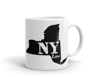 Coffee Mug - New York - Attorney Gifts - Lawyer Gifts - Law Firm Gifts - Law School Graduation Gift - Birthday Gift