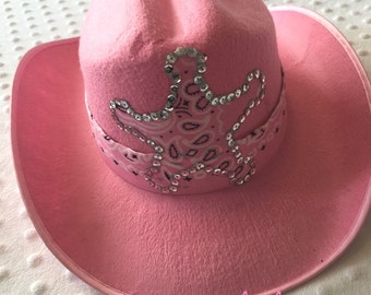 Pink WESTERN Wear COWGIRL HAT Cowboy Sequins Boots Custom Boutique Pageant  Matching Outfit Available Country Girl Toddler Hat West Birthday 0e691fa1764c