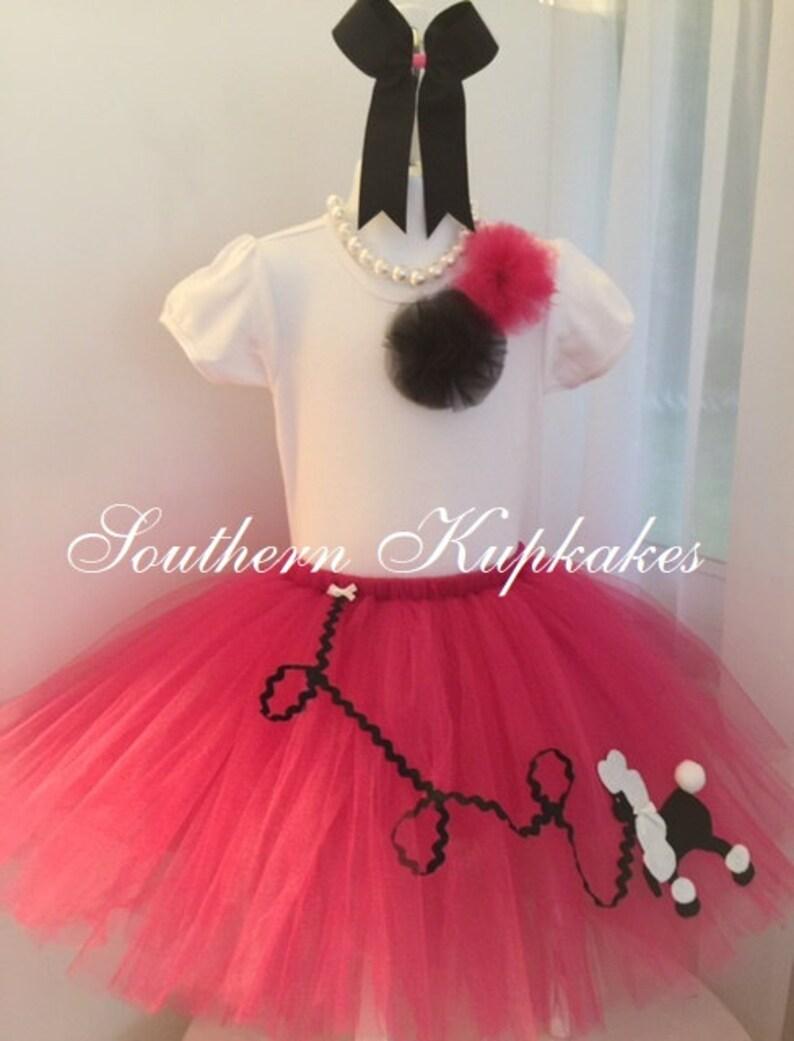 548339312077 Girls Poodle Skirt 1950 s Sock Hop Car Show ViNTaGe LooK