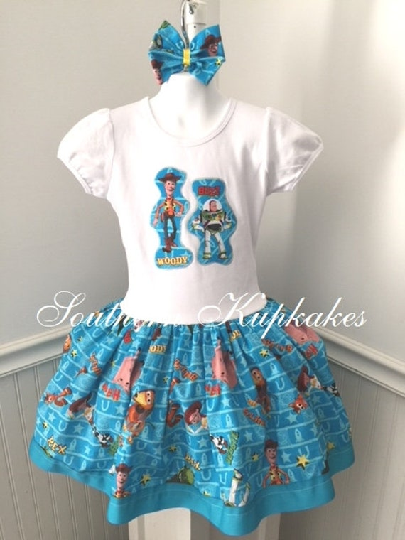 Disney Toy story Jessie handmade skirt /& hair bow Size 7
