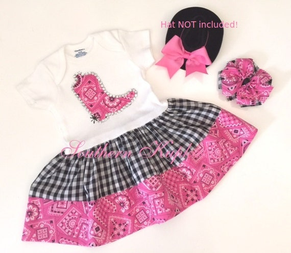 Custom Pink Western Wear Girls Cowgirl Birthday Boot Sequin