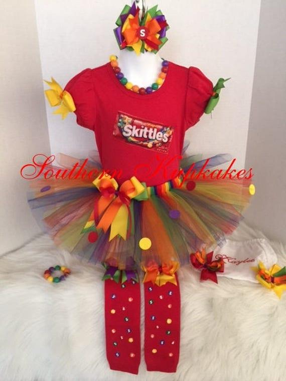 Boutique Pettiskirt Top Shirt TuTu Pageant Rainbow
