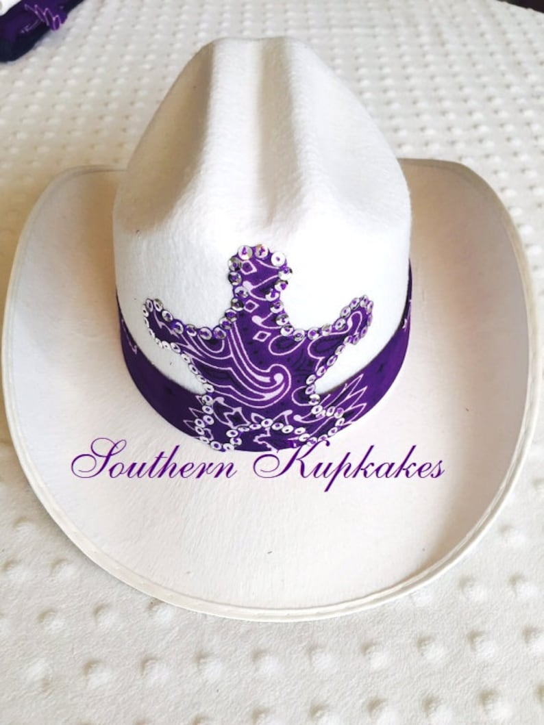 White WESTERN Wear COWGIRL HAT Cowboy Sequins Boots Custom  03e8818b781b