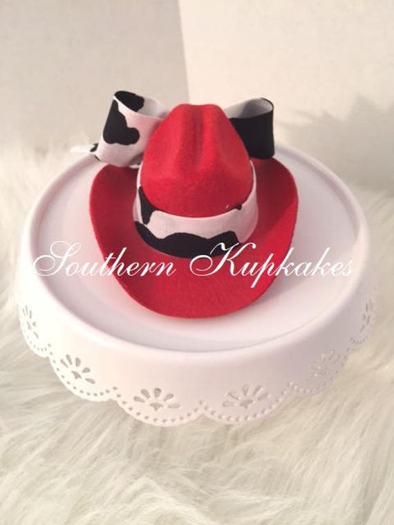 Mini Red Cowgirl Custom Hat Pageant Boutique Prop Photo Shoot Choose Your  Color Accent Ribbon Infant Toddler Girls Ladies Womens All Ages 08b937ff1770