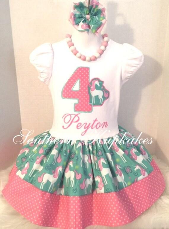 Princess Crown Hot Pink Girl 5th Birthday Tutu Outfit Shirt Set Party