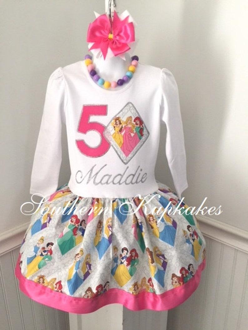 49c25c344 Party Princess Girls Birthday Dress Custom Handmade Boutique   Etsy
