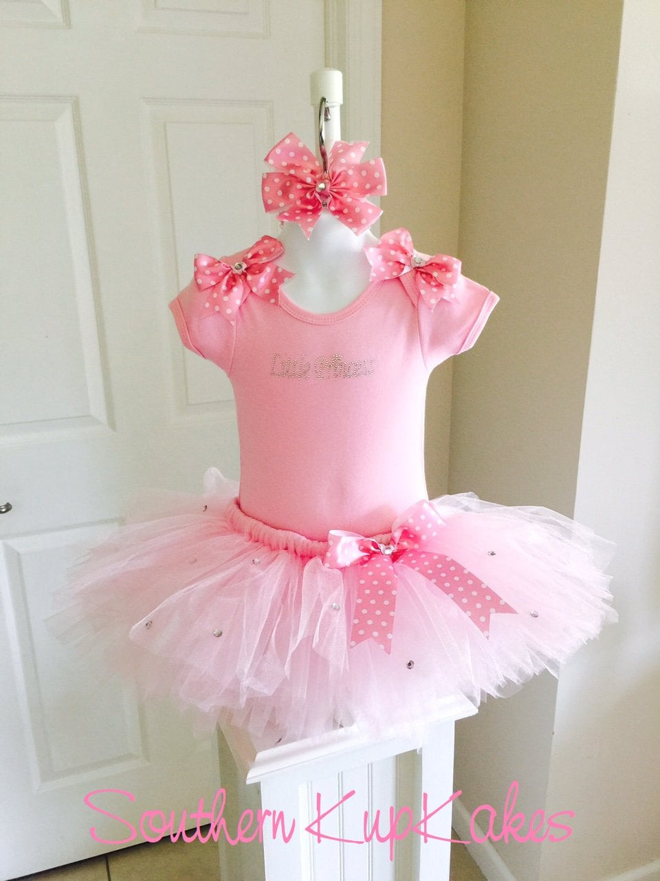 17cd45b8645b Boutique LITTLE PRINCESS Rhinestone Pink Tutu Pettiskirt