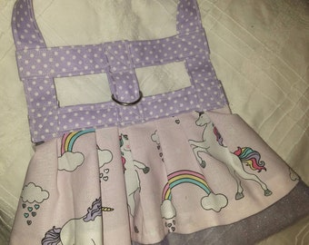 Unicorn harness dog dress
