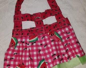 Watermelon,  Cherry or Strawberry Dog Harness Dress